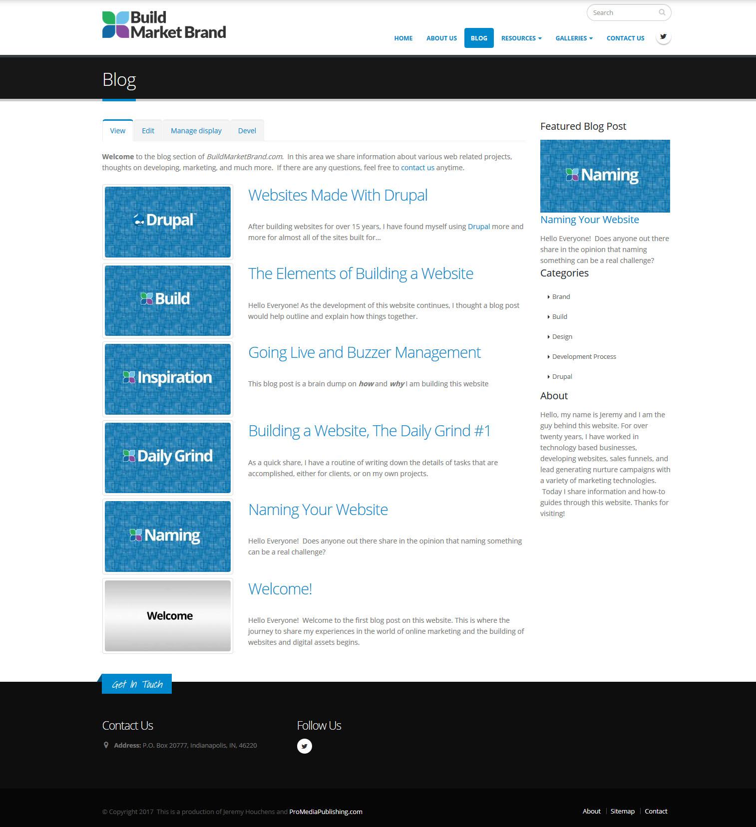 Building a Website - Blog