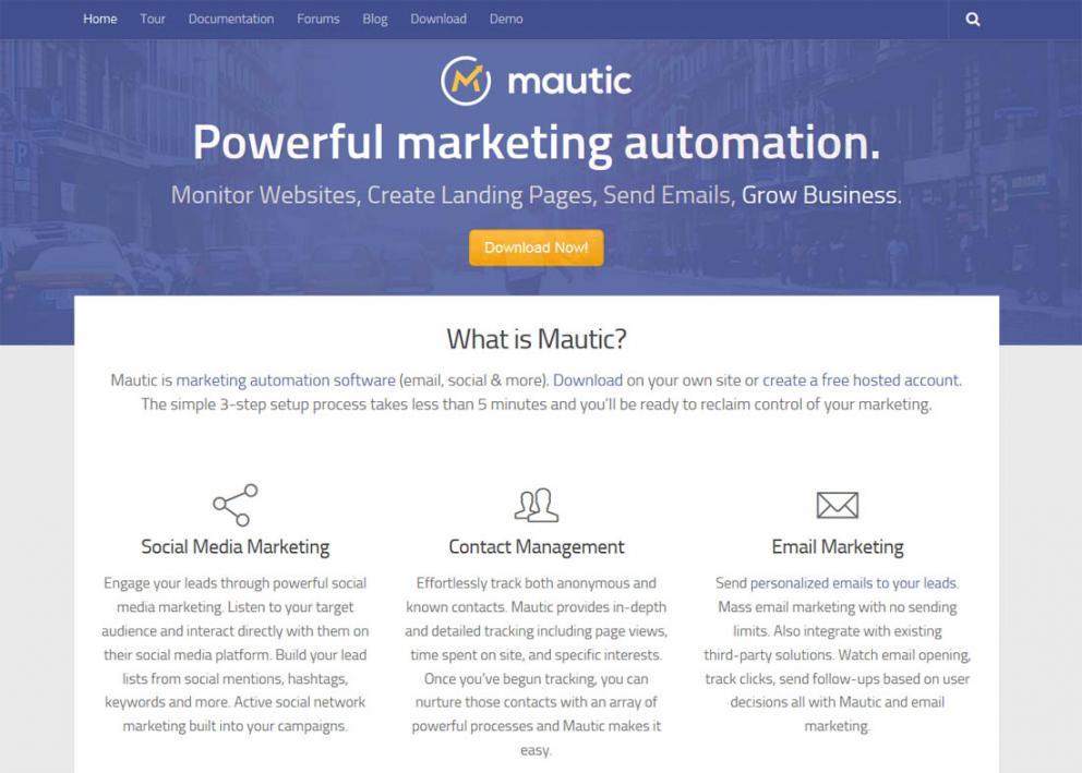 Installing Marketing Automation - Visit Mautic
