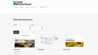 Building a Website - Galleries Overview Page